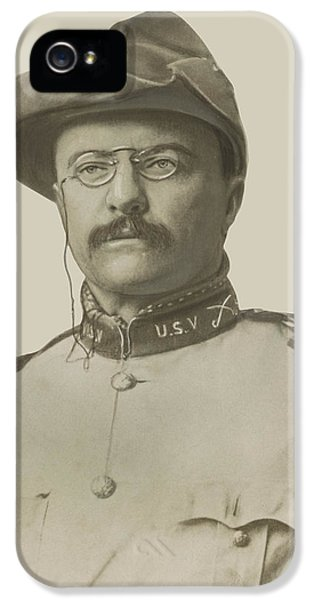 President iPhone 5 Cases - Colonel Theodore Roosevelt iPhone 5 Case by War Is Hell Store