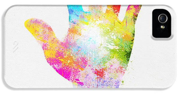 Arms iPhone 5 Cases - Colorful Painting Of Hand iPhone 5 Case by Setsiri Silapasuwanchai