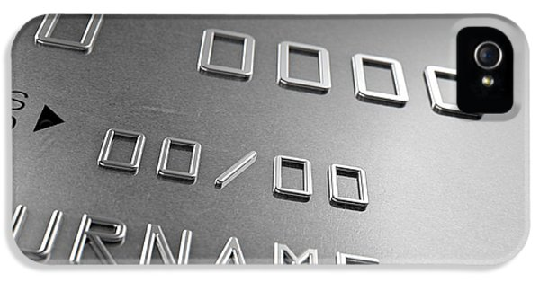 Credit iPhone 5 Cases - Credit Card Closeup iPhone 5 Case by Allan Swart