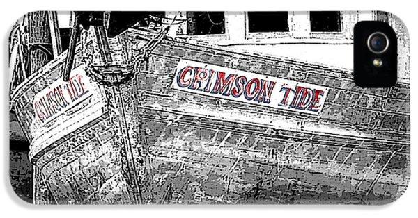 Crimson Tide iPhone 5 Cases - Crimson Tide iPhone 5 Case by Michael Thomas