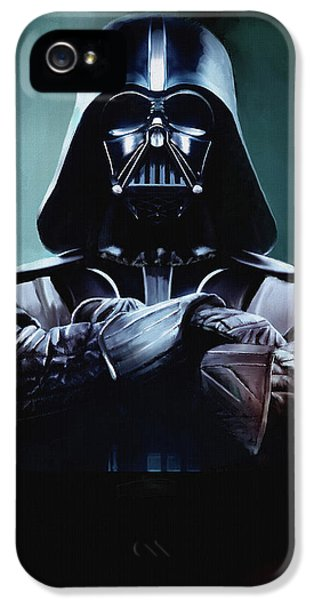 Star iPhone 5 Cases - Darth Vader Star Wars  iPhone 5 Case by Michael Greenaway