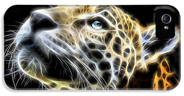 Electric Leopard Wall Art Collection IPhone 5 / 5s Case by Marvin Blaine