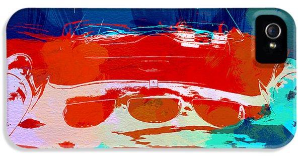 Classic Car iPhone 5 Cases - Ferrari GTO iPhone 5 Case by Naxart Studio