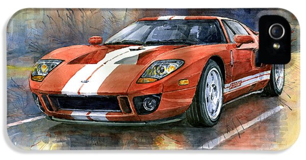 Ford Classic Car iPhone 5 Cases - Ford GT 40 2006  iPhone 5 Case by Yuriy  Shevchuk