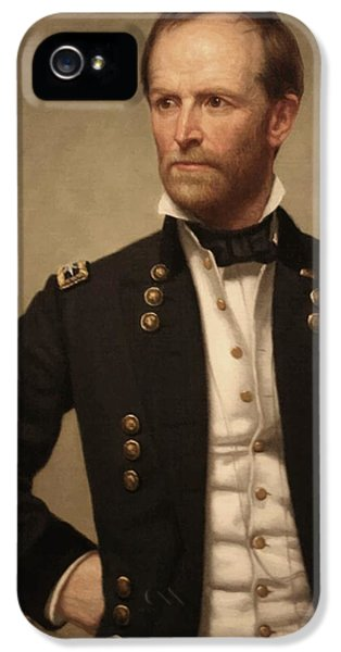 The Americas iPhone 5 Cases - General William Tecumseh Sherman iPhone 5 Case by War Is Hell Store