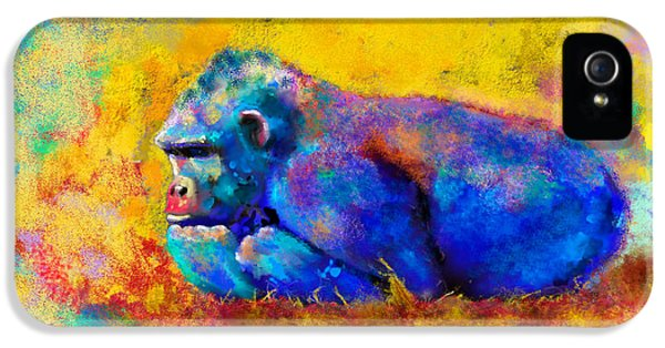 Gorilla Gorilla IPhone 5 / 5s Case by Betty LaRue