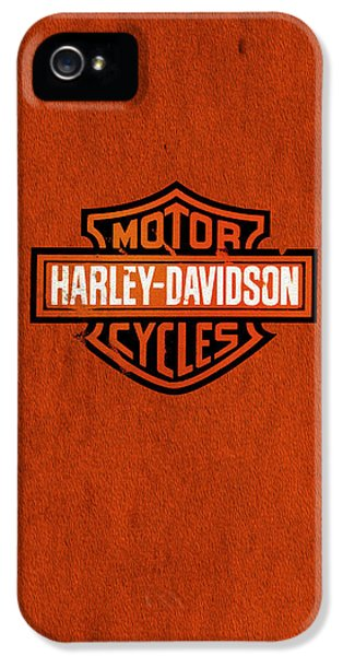 Classic iPhone 5 Cases - Harley-Davidson Phone Case iPhone 5 Case by Mark Rogan