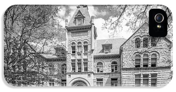 Gi iPhone 5 Cases - Indiana University Kirkwood Hall  iPhone 5 Case by University Icons