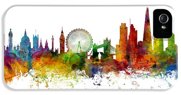 London England Skyline Panoramic IPhone 5 / 5s Case by Michael Tompsett