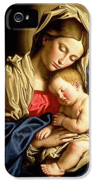 Tender iPhone 5 Cases - Madonna and Child iPhone 5 Case by Il Sassoferrato