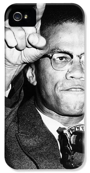 Speech iPhone 5 Cases - Malcolm X (1925-1965) iPhone 5 Case by Granger