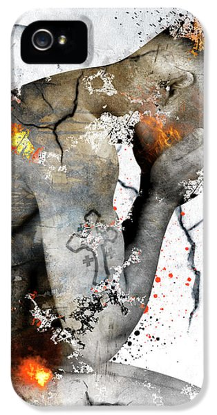 Male Nude  IPhone 5 / 5s Case by Mark Ashkenazi