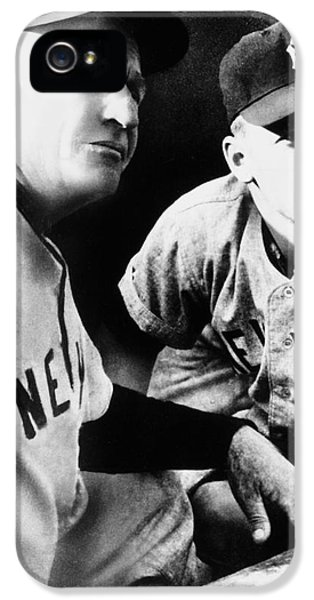 Casey iPhone 5 Cases - Mickey Mantle (1931-1995) iPhone 5 Case by Granger