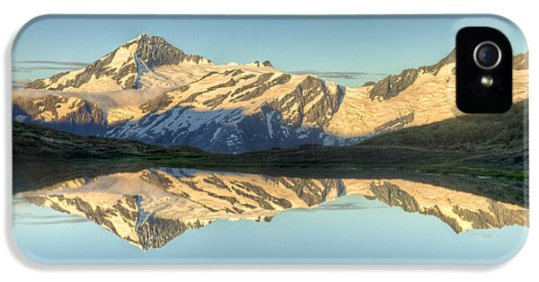 Mountain iPhone 5 Cases - Mount Aspiring Moonrise Over Cascade iPhone 5 Case by Colin Monteath