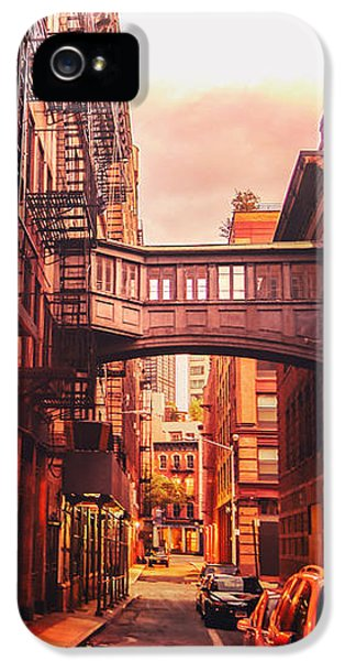 Scifi iPhone 5 Cases - New York City Alley iPhone 5 Case by Vivienne Gucwa