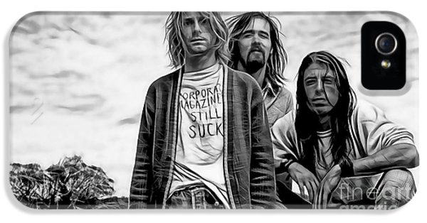 Kurt Cobain iPhone 5 Cases - Nirvana Collection iPhone 5 Case by Marvin Blaine