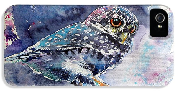 Owl At Night IPhone 5 / 5s Case by Kovacs Anna Brigitta