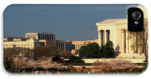 Panoramic View Of Jefferson Memorial IPhone 5 / 5s Case by Panoramic Images