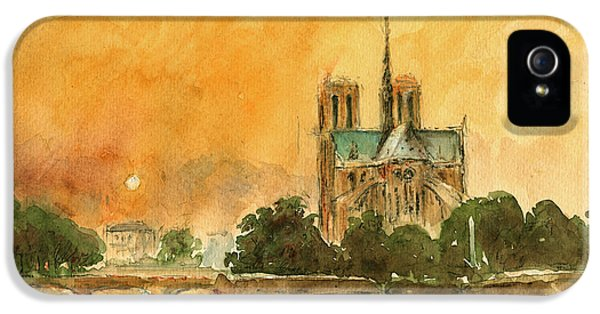 Paris Notre Dame IPhone 5 / 5s Case by Juan  Bosco
