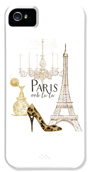 Paris - Ooh La La Fashion Eiffel Tower Chandelier Perfume Bottle IPhone 5 / 5s Case by Audrey Jeanne Roberts