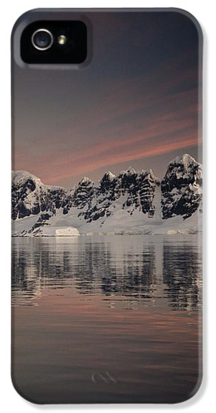 Mountain iPhone 5 Cases - Peaks At Sunset Wiencke Island iPhone 5 Case by Colin Monteath