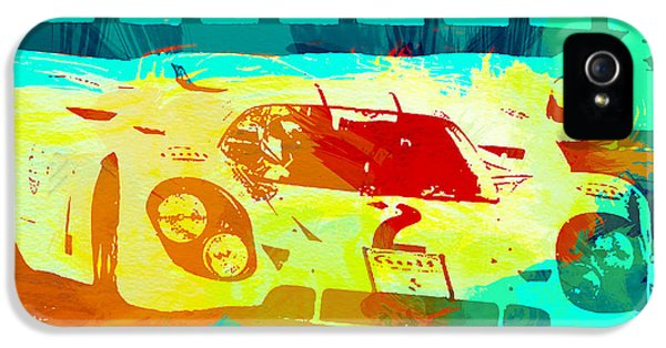 German Classic Cars iPhone 5 Cases - Porsche 917 Watercolor iPhone 5 Case by Naxart Studio