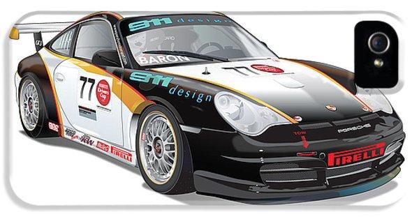 German Racing Driver iPhone 5 Cases - Porsche 996 GT3 Cup iPhone 5 Case by Alain Jamar