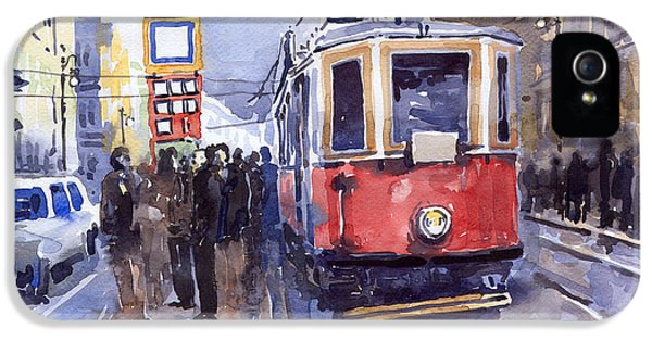 Old Tram iPhone 5 Cases - Prague Old Tram 03 iPhone 5 Case by Yuriy  Shevchuk