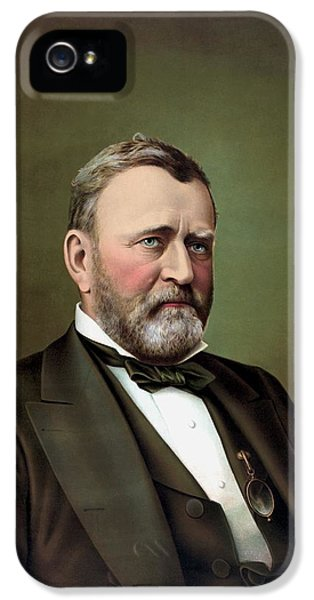 President iPhone 5 Cases - President Ulysses S Grant iPhone 5 Case by War Is Hell Store