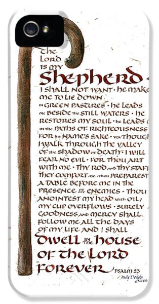 Psalm 23 IPhone 5 / 5s Case by Judy Dodds