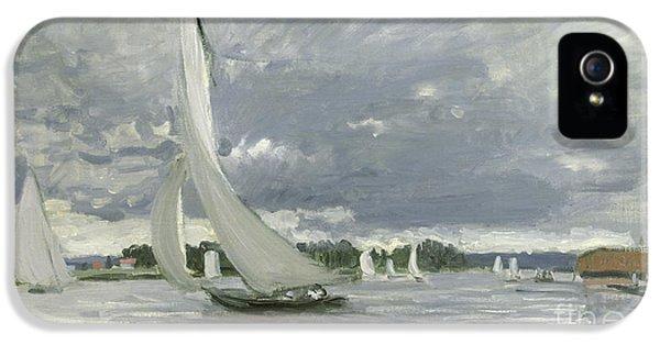 Regatta At Argenteuil IPhone 5 / 5s Case by Claude Monet