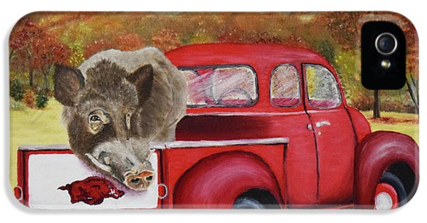Ridin' With Razorbacks 2 IPhone 5 / 5s Case by Belinda Nagy