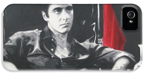 Brian De Palma iPhone 5 Cases - Scarface iPhone 5 Case by Luis Ludzska
