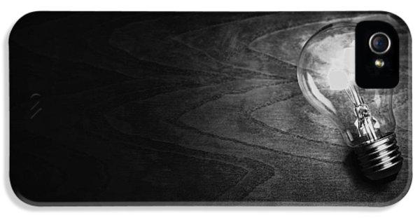 Filament (lightbulb) iPhone 5 Cases - Shine a Light iPhone 5 Case by Ondrej Supitar