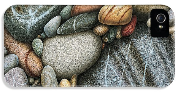 Washed iPhone 5 Cases - Shore Stones 3 iPhone 5 Case by JQ Licensing