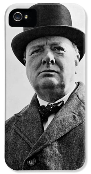 British iPhone 5 Cases - Sir Winston Churchill iPhone 5 Case by War Is Hell Store