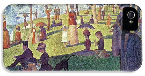 Famous People iPhone 5 Cases - Sunday Afternoon on the Island of La Grande Jatte iPhone 5 Case by Georges Pierre Seurat