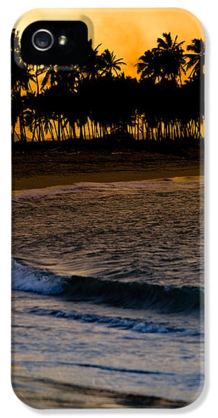 Sea iPhone 5 Cases - Sunset at the Beach iPhone 5 Case by Sebastian Musial
