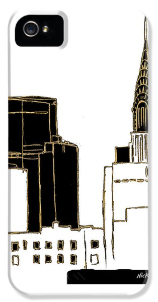 Tenement Empire State Building IPhone 5 / 5s Case by Nicholas Biscardi