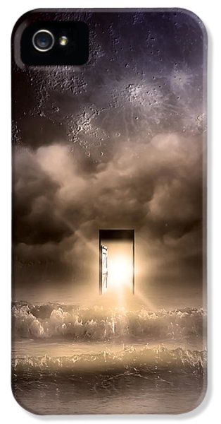 Moonrise iPhone 5 Cases - The Door iPhone 5 Case by Svetlana Sewell