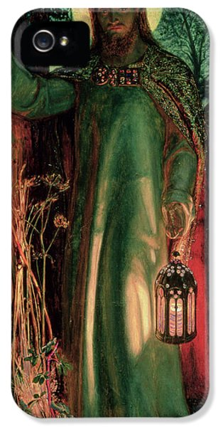 Son Of God iPhone 5 Cases - The Light of the World iPhone 5 Case by William Holman Hunt