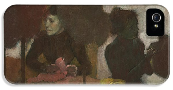 Milliner iPhone 5 Cases - The Milliners iPhone 5 Case by Edgar Degas