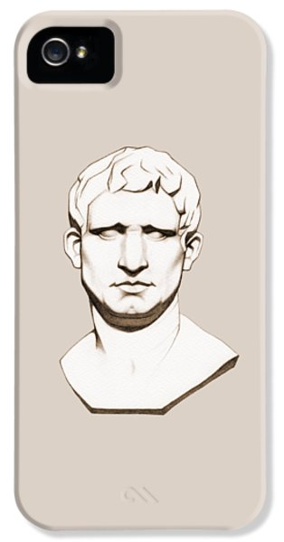 The Roman General - Marcus Vipsanius Agrippa - In Sepia IPhone 5 / 5s Case by Stevie the floating artist