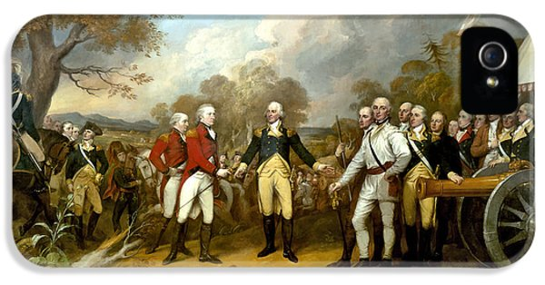 The Surrender Of General Burgoyne IPhone 5 / 5s Case by War Is Hell Store