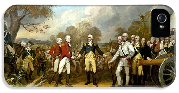 Us iPhone 5 Cases - The Surrender of General Burgoyne iPhone 5 Case by War Is Hell Store