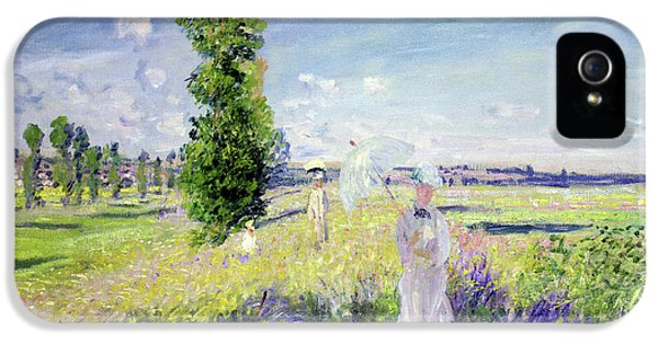 Oil House iPhone 5 Cases - The Walk iPhone 5 Case by Claude Monet