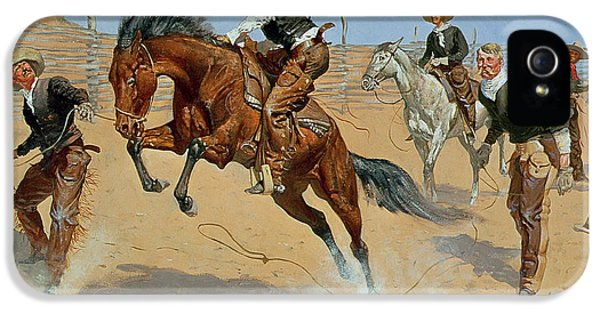 Turn Him Loose IPhone 5 / 5s Case by Frederic Remington