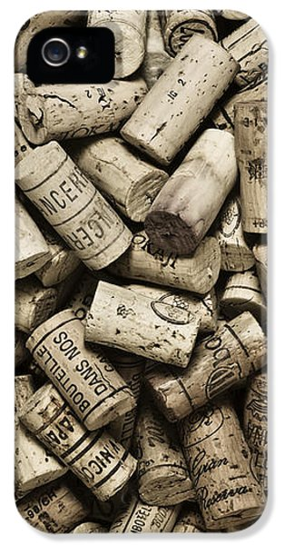 Grunge Style iPhone 5 Cases - Vintage Wine Corks iPhone 5 Case by Frank Tschakert