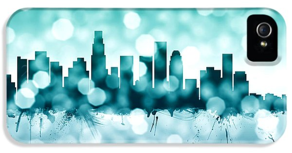 Los Angeles California Skyline IPhone 5 / 5s Case by Michael Tompsett