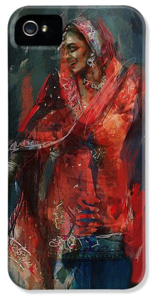 Pakistan iPhone 5 Cases - 10 pakistan folk Punjab B iPhone 5 Case by Maryam Mughal